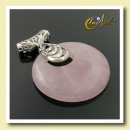 wholesale Jewelry & Watches: Pink quartz  pendant with filigree cylinder