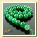 ingrosso Beads & Charms: sfaccettato agata  verde 12 mm - strisce palle