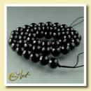 ingrosso Pendenti: Balls strisce  Agata 8 nero - sfaccettato