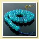 Großhandel Beads & Charms: Facettierte blaue Achat Perlen, 8 mm