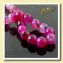 ingrosso Beads & Charms: perline  sfaccettate 12 mm agata fucsia