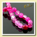 Fuchsia agate - faceted beads 6 mm