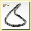 hurtownia Bizuteria & zegarki: Strip Obsidian snowflake - cylinder