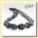 groothandel Sieraden & horloges: Strip sneeuwvlok obsidiaan - ovaal