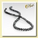 groothandel Beads & Charms: Strips ballen  snowflake obsidiaan - 4 mm