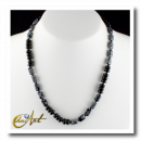 Nevada obsidian and onyx necklace