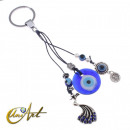 Turkish Eye Keychain with Chinese phoenix