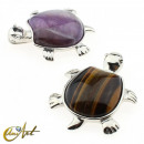 wholesale Jewelry & Watches: Tortoise pendant -  tiger eye or amethyst