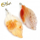wholesale Jewelry & Watches:Red agate leaf pendant