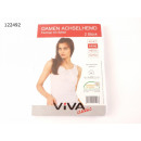 Ladies Vest 2-pack with lace white, sizes 4