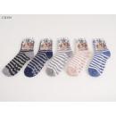 Ladies cozy sock stripes m. ABS one size