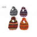 Women Beanie multi bobble