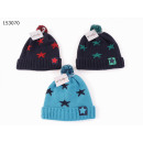 wholesale Headgear: Children knitted hat with bobble star