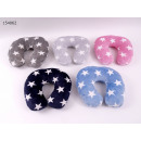 wholesale Cushions & Blankets: Neck pillow flannel Stars 30 x 28 cm
