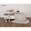 Flannel blanket with hearts printed 150 x 200 cm V