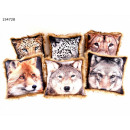 Pillows Animal motifs, about 45 x 45 cm + fur edge
