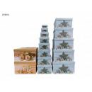 Großhandel Geschenkartikel & Papeterie: Geschenkbox Weihnachtsdeko 13er Pack