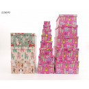 wholesale Gifts & Stationery: Gift box Lama 13-pack 4 designs VE4