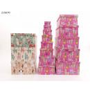 grossiste Cadeaux et papeterie: Coffret cadeau Lama 13-pack 4 designs VE4