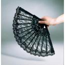 Großhandel Verkleidung & Kostüme: Spitzenfächer, schwarz, ca. 23 cm
