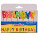 Happy Birthday Kaarsen 13 letters in doos ca 14x8