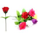 Rosebud ca 16 cm, 6 kleuren geassorteerd