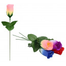 grossiste Fleurs artificielles: Rosebud - couleurs assorties ca 22 cm