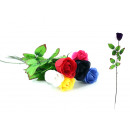 wholesale Artificial Flowers: Baccaran rose 6 colors assorted about 65 cm