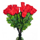 wholesale Artificial Flowers: Baccarose - only red - about 65 cm