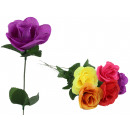wholesale Artificial Flowers: Rose colored with drops of water about 44 cm