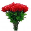 wholesale Artificial Flowers: Rose - Rosebud red about 47 cm