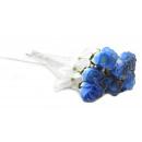 grossiste Fleurs artificielles: bleu clair avec  Rosebud glitter ca 45 cm