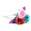 grossiste Fleurs artificielles: Rose Rose ca 42 cm ouverte Bauer