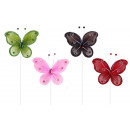 wholesale Baby Toys: Butterfly at bar 4  times assorted - ca 31cm