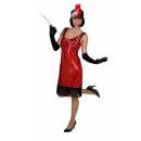 Großhandel Kleider: Charleston-Kleid, rot Größe 46/48