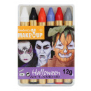 6 crayons de  Halloween dans la boîte
