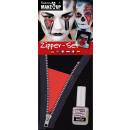 Zipper set: zipper and cosmetic glue