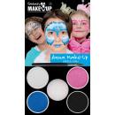Aqua-Schminkset: Prinzessin blau/pink