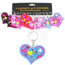 Colorful heart on keychain - ca 6,5x5cm