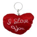 Plush heart I love you to key ring - ca 8
