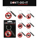 grossiste Porte-cles: NE PAS - DO IT  Keychain 6 fois assorti -
