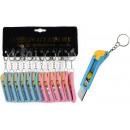 wholesale Garden & DIY store: Cutter knife keychain ca 75 mm