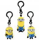 Minions on bag clip 3-fold assorted ca assorted cm