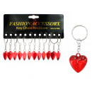 Heart red on key chain