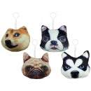 wholesale Cushions & Blankets: Dog Pillows 4- times assorted 3D on carabiner - ap