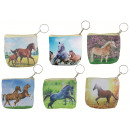 wholesale Wallets: Stock exchange with horse motif on key ring - appr