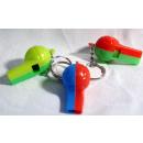 Fluitje - voetbalfluitje op sleutelhanger - c