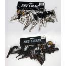 Pistols geassorteerd aan keychains ca 8-12cm