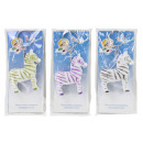groothandel Stationery & Gifts: Zebra on key chain - ca. 5,5 cm