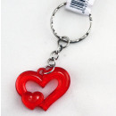 Heart -red- on key chain approx 3.2 cm